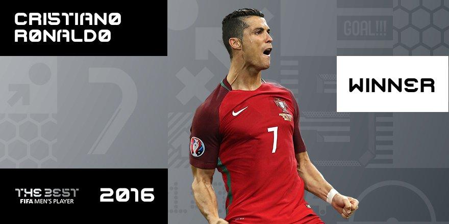 Cristiano Ronaldo é o melhor jogador do mundo para a FIFA