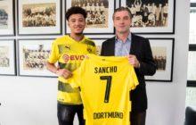 OFICIAL: Jadon Sancho assina pelo Borussia Dortmund