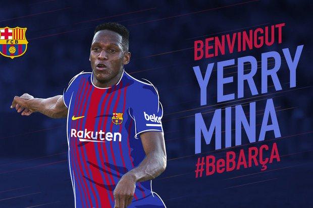 OFICIAL: Yerri Mina assinou pelo Barcelona