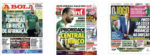 Capas Jornais Desportivos 25-05-2020