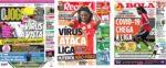 Capas Jornais Desportivos 11-05-2020