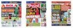 Capas Jornais Desportivos 20-10-2020