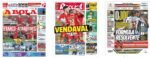 Capas Jornais Desportivos 14-12-2020
