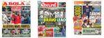 Capas Jornais Desportivos 09-01-2021