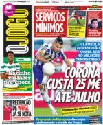 Capas Jornais Desportivos 25-03-2021