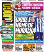 Capas Jornais Desportivos 22-10-2021